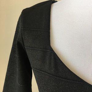 Bisou Bisou Dresses - Bisou Bisou Black & Gold Shimmer Sheath Dress 4